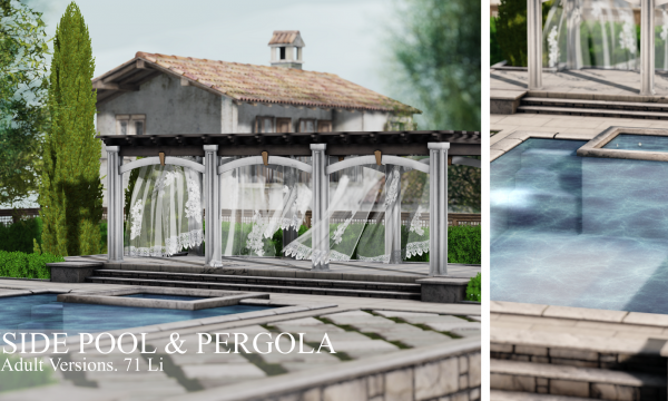 Elm. - Countryside Pool & Pergola.