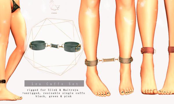 Swan - Lea Cuffs Set.